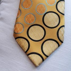 Karl Knox Fabulous Necktie Gold Dots Circles